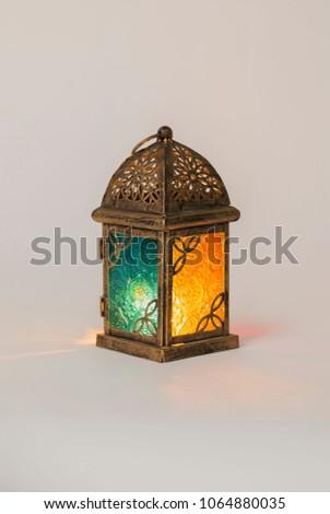 Unique lantern with orange and blue color #1064880035