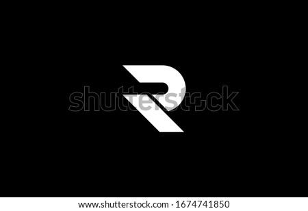 Unique logo design letter R on black background
