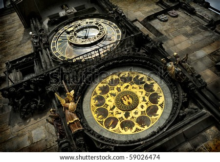 Unique medieval astrological clock in Prague