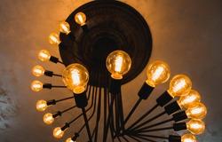 unique original retro electric yellow lamps