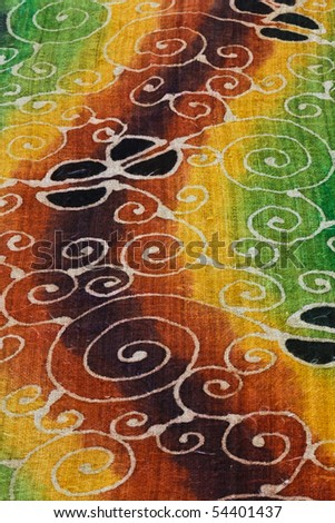 Unique pattern of the batik produce in Thailand