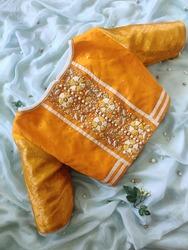 Unique premium designer hand embroidered blouses on saree for women