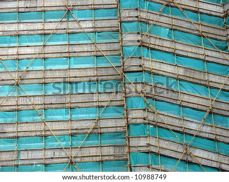Unique scaffolding in Asia, abstract