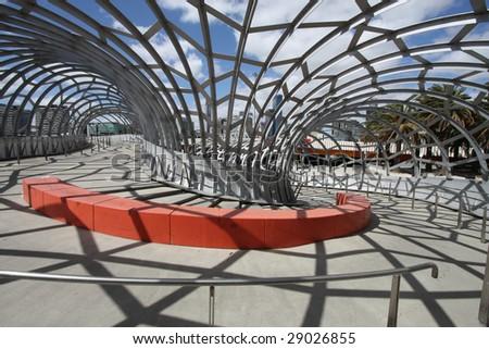Unique Webb Bridge in Melbourne, Victoria, Australia