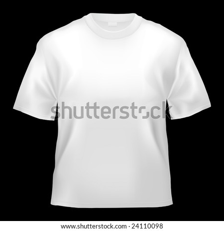 Unisex T-shirt template (isolated on black, clipping path)