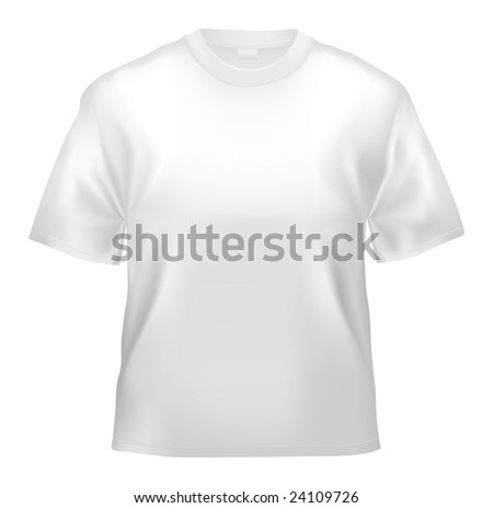 Unisex T-shirt template (isolated on white, clipping path)