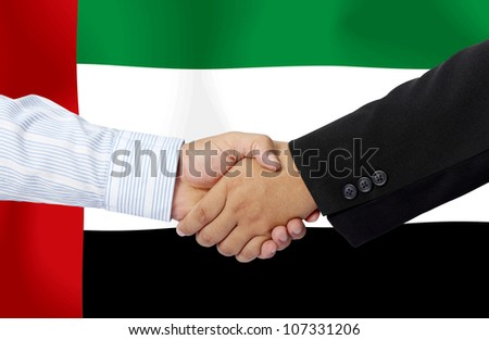 United Arab Emirates,businessmen handshake