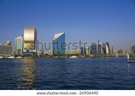 united arab emirates - dubai, creek buildings