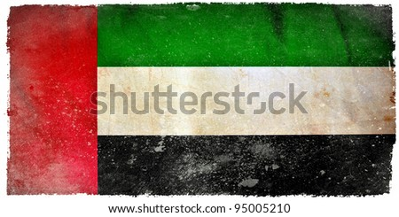 United Arab Emirates grunge flag