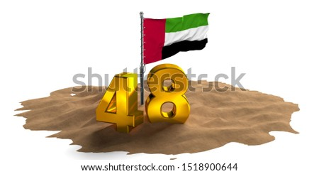 United Arab Emirates national day, spirit of the union, UAE National day of UAE and Flag day, Anniversary Celebration Card 2 December, UAE 48 Independence Day