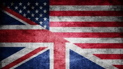 United Kingdom and USA dark flag texture