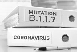 united kingdom b117 mutation of coronavirus concept