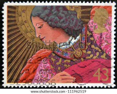 UNITED KINGDOM - CIRCA 1998: A stamp printed in Great Britain shows an angel, circa 1998