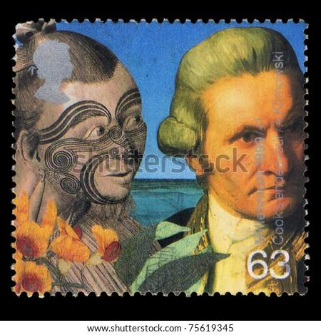 UNITED KINGDOM - CIRCA 1999: A stamp printed in United Kingdom shows Millennium 1999/41, Cook's Endeavour, circa 1999