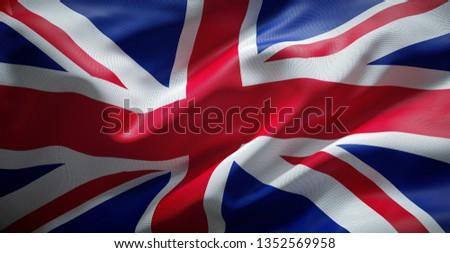 United kingdom flag. England.