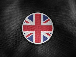 United Kingdom flag isolated on black with clipping path. flag symbols of United Kingdom. United Kingdom flag frame with empty space for your text.