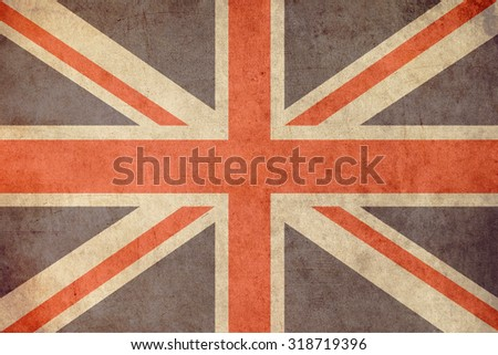 united kingdom flag retro grunge background #318719396