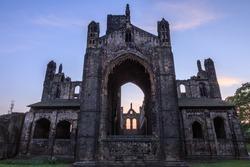 United Kingdom, Great Britain, England, West Yorkshire, Leeds. Kirkstall Abbey, 12th century Cistercian Monastery ruins.