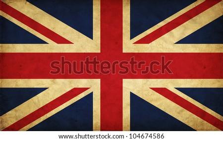 United Kingdom grunge flag - stock photo