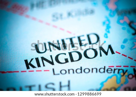 United Kingdom. United Kingdom on a map