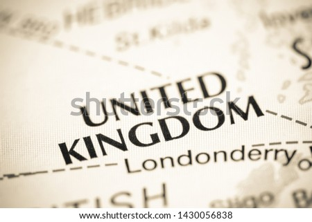 United Kingdom. United Kingdom on a map #1430056838