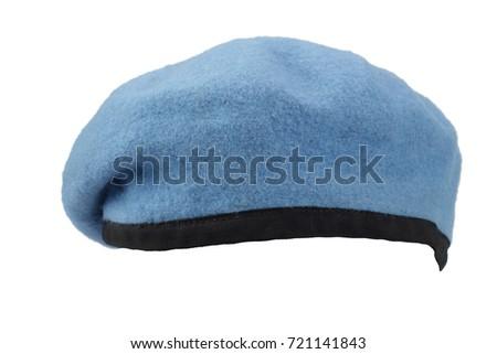 United Nations Peacekeeping troops blue beret