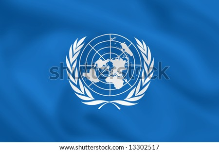 United Nations waving flag (can be used how background or wallpaper)