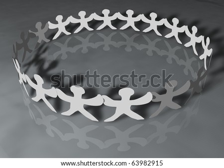 United people chain with shadows, can be used for web or print