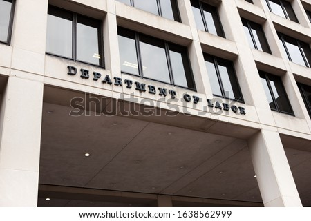 United Stated Department of Labor building in Washington DC Foto d'archivio ©