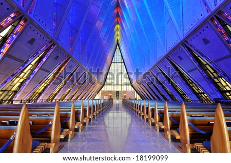 United States Air Force Academy Cadet Chapel Interior