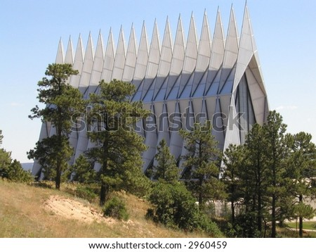 United States Air Force Academy Cathedral in Colorado Springs, CO