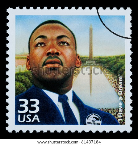 UNITED STATES AMERICA - CIRCA 1985: A postage stamp printed in USA showing Martin Luther King, circa 1985