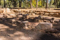 United States. Arizona. Grand Canyon National Park. Walhalla Glades. Remains of the old Anasazi pueblo of Walhalla Glades.