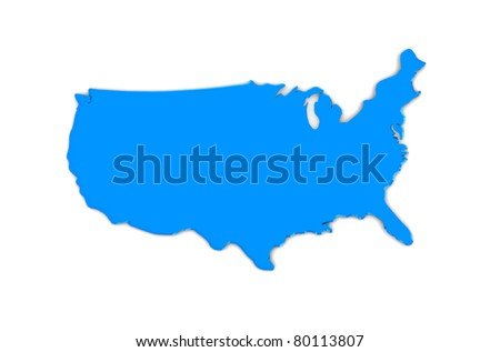 United States blue map