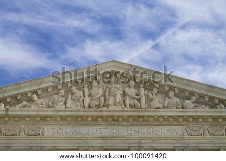United States Building top shapes, Supreme Court Building in Washington DC