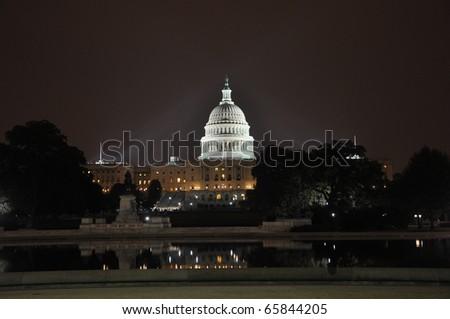 United States Capitol Building at night, Washington DC