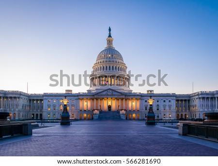 United States Capitol Building at sunset - Washington, DC, USA
