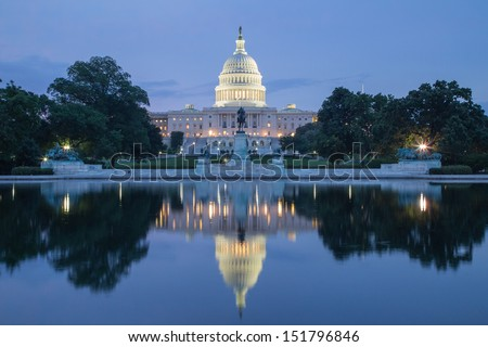 United States Capitol Building at Twilight