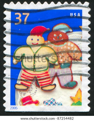 UNITED STATES - CIRCA 2005: A stamp printed by United States of America, shows cookie elves, circa 2005