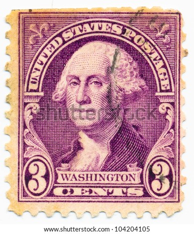 UNITED STATES - CIRCA 1932: A stamp printed in the United States, shows portrait of Washington (1732-1799), circa 1932