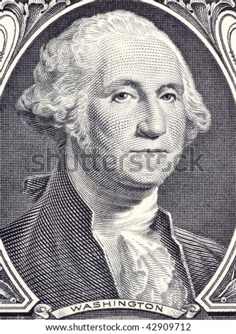 UNITED STATES – CIRCA 2006: George Washington on 1 Dollar 2006 Banknote.  Commander of the continental army in the American revolutionary war during 1775-1783 and first president during 1789-1797.