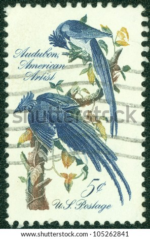 UNITED STATES - CIRCA 1963: stamp printed in United states, shows Columbia Jays, circa 1963