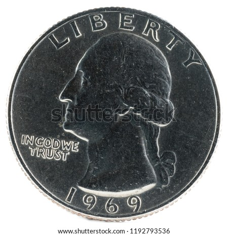 United States Coin. Quarter Dollar 1969. Obverse.