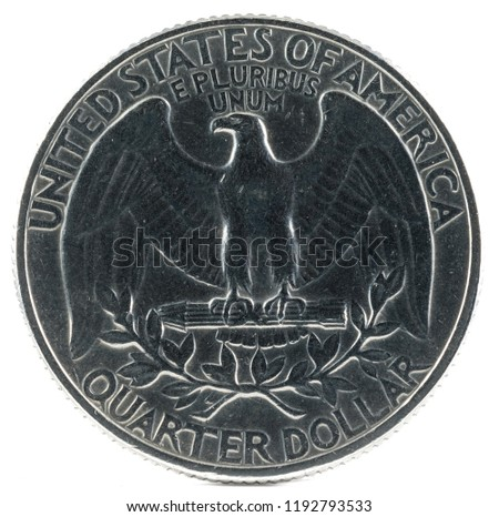 United States Coin. Quarter Dollar 1969. Reverse.