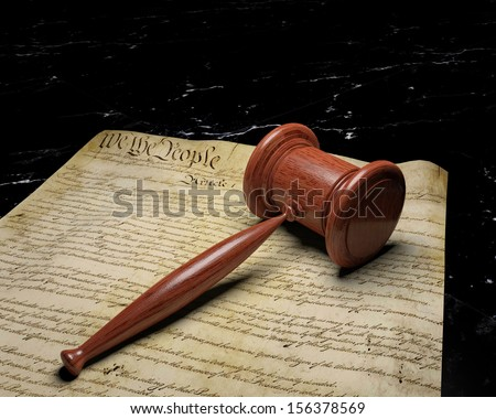 United States Constitution and Gavel 1,  Constitutional Law