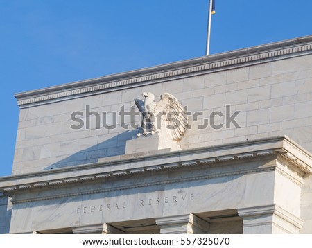 United States Federal Reserve System headquarters in Washington DC. Federal Reserve Board is located in Eccles Building and is the main governing body of the Federal Reserve System.