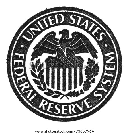 United States Federal Reserve System symbol. Macro.