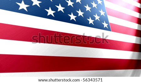 United states flag with perspective, bars and stars