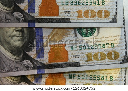 United States hundred dollar series 2013 and series 2009 #1263024952