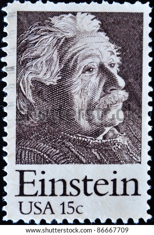 UNITED STATES OF AMERICA CIRCA 1970 A stamp printed in the USA shows Einstein Portrait circa 1970